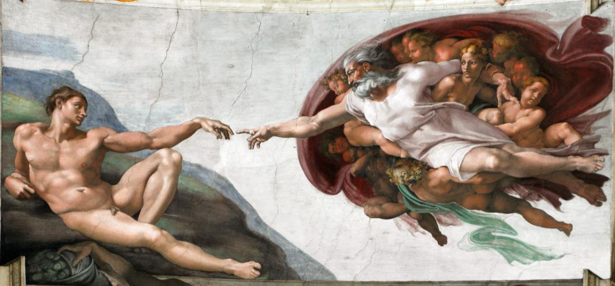 Michelangelo, Creazione di Adamo - Cappella Sistina